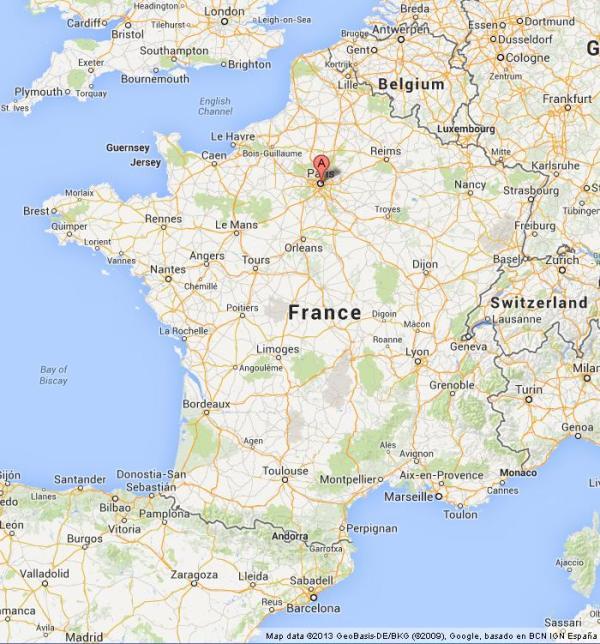 موقعیت جغرافیایی پاریس