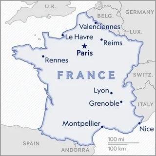 موقعیت لیون فرانسه