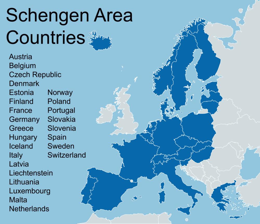 کشورهای عضو شینگن